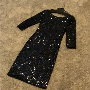 Black sequin dress by Laundry by Shelli Segal